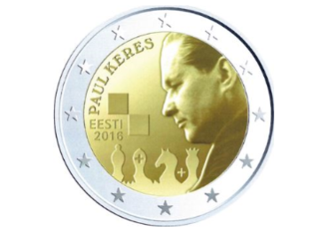 Coin: the 100th anniversary of the birth of the famous Estonian chess grandmaster Paul Keres