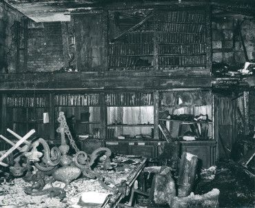 the library destroyed during the great fire