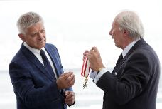 Image of: Poland's former central bank President Marek Belka received distinguished decoration