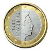 1 euro, Luxembourg