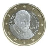 1 euro, Vatican, third series