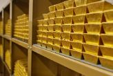 Gold bars in safe